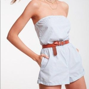 Kimchi Blue Urban Outfitters Striped Romper